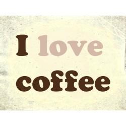 """Наклейка """"Я люблю каву"""""""